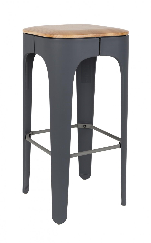 Luzo Barhocker Up-High 48 x 89 cm grau