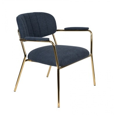 TOM Sessel Kolten 73 x 70 cm Polyester / Stahl dunkelblau