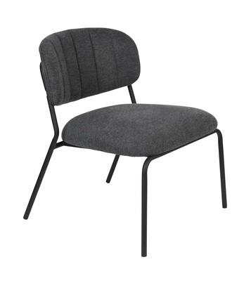 TOM Sessel Jolien 68 x 60 cm Polyester / Stahl schwarz
