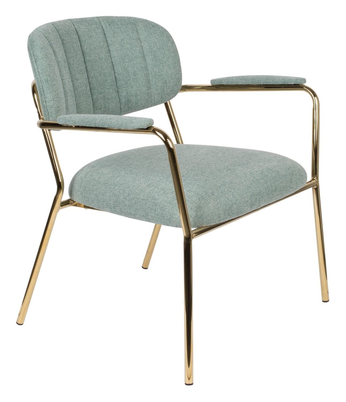 TOM Sessel Kolten 73 x 70 cm Polyester / Stahl mintgrün