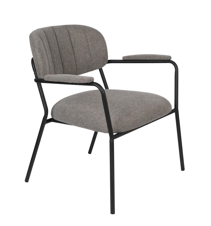 TOM Sessel Kolten 73 x 70 cm Polyester / Stahl grau