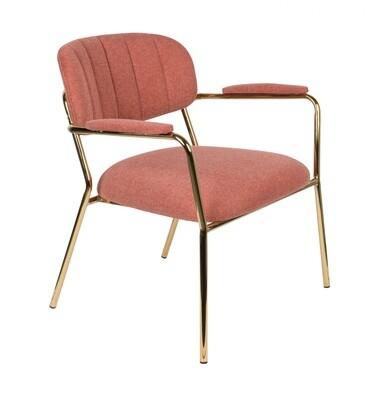 TOM Sessel Kolten 73 x 70 cm Polyester / Stahl rosa