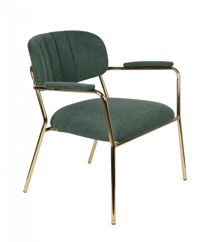 TOM Sessel Kolten 73 x 70 cm Polyester / Stahl grün