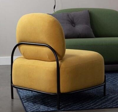 TOM Sessel Polly 77 x 72 cm Polyester / Stahl gelb