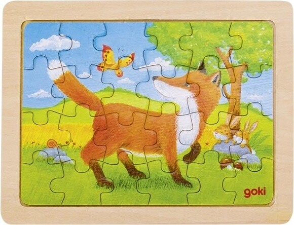 Goki Holzpuzzle Tiermotiv 19 x 14,5 cm 24 Stück
