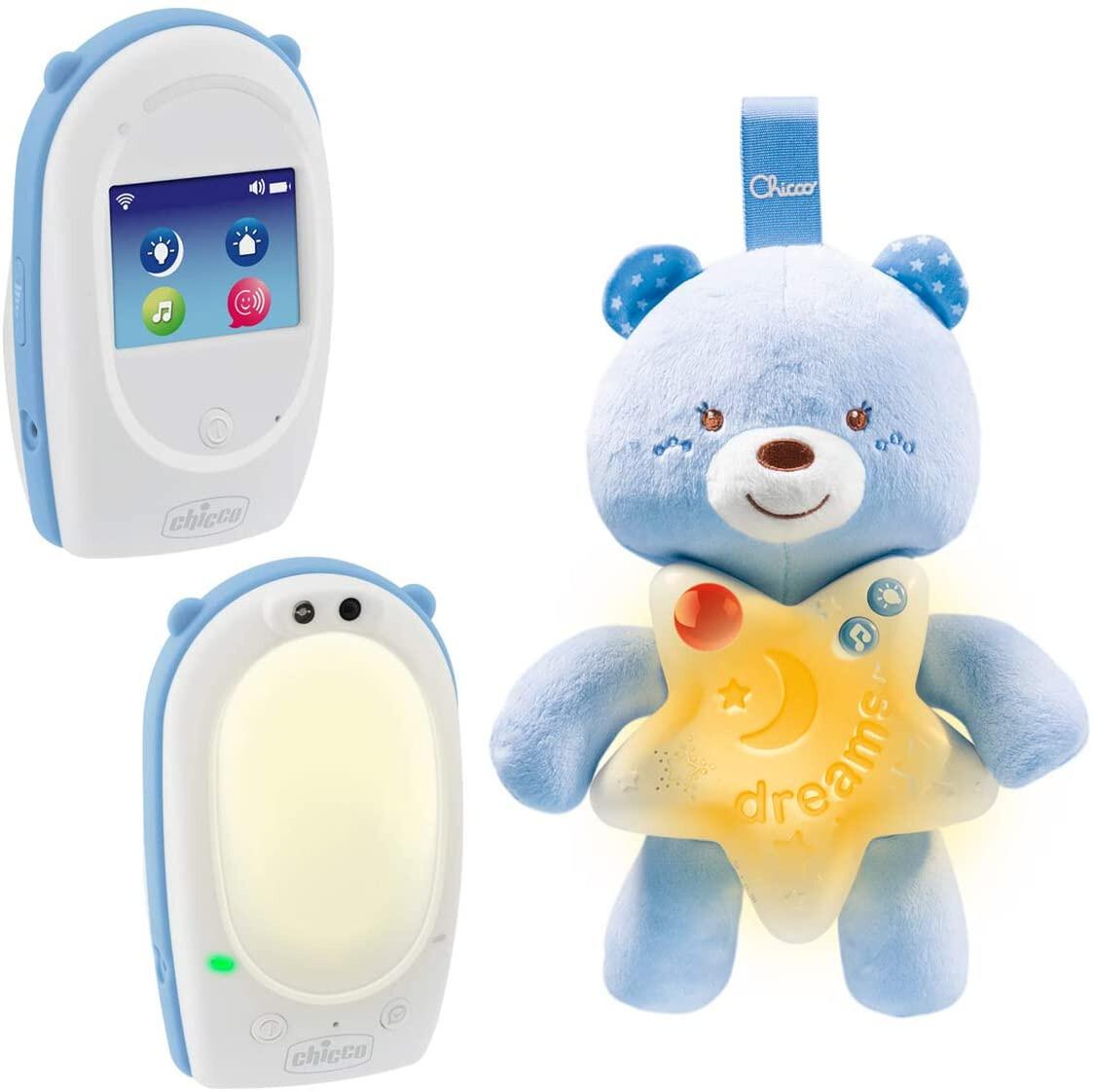 Chicco Babyphone First Dreams weiss / blau 3-teilig