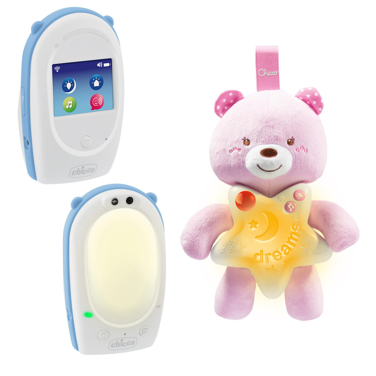 Chicco Babyphone First Dreams weiss / rosa 3-teilig