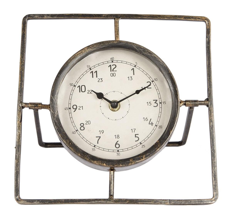 Van Manen Uhr Kompass 24 x 24 x 24 cm Stahl creme / bronze