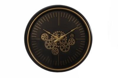 Van Manen Wanduhr Alexander rund 50 cm schwarz / gold Metall