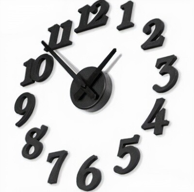 United Entertainment Uhr DIY Stahl schwarz 16-teilig