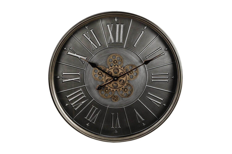 Van Manen Wanduhr Zahnräder 60 x 8 cm Stahl bronze/schwarz