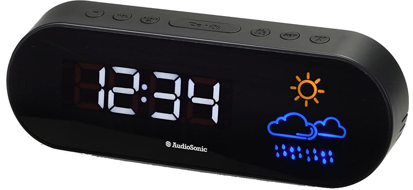 Smartwares Radiowecker Audio Sonic 29 x 8 x 20 cm schwarz