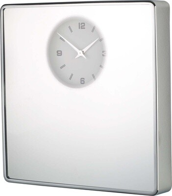 Balvi Wanduhr Spiegel 33,5 x 32,5 cm Chromsilber
