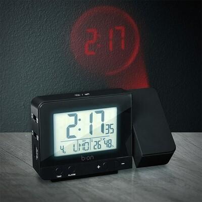Balvi Wecker mit Projektor 8,4 x 13,5 cm ABS schwarz