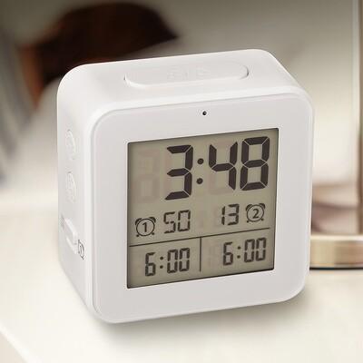 Balvi Wecker digital 8,2 cm LCD ABS weiss