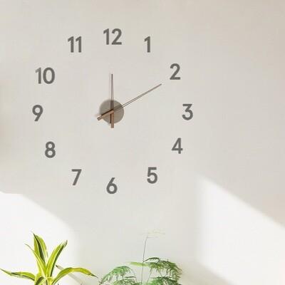 Balvi Wanduhr Momentum 100 cm Holz grau