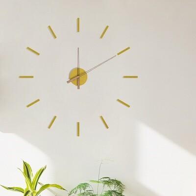 Balvi Wanduhr 100 cm Holz gelb
