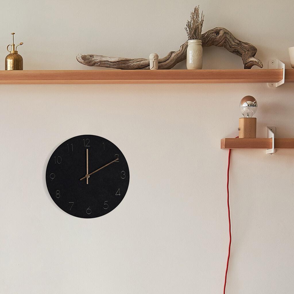 Balvi Wanduhr 29 x 4,5 cm Holz schwarz