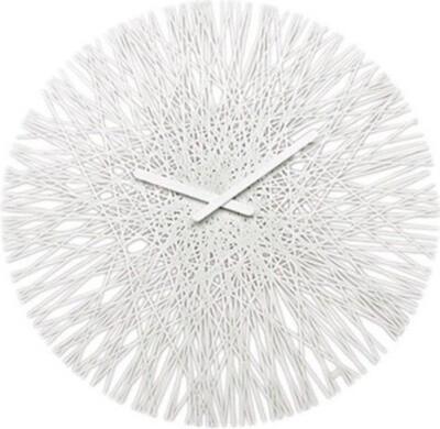 Koziol Wanduhr Silk 44,8 cm Polypropylen weiß