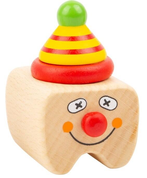 Small Foot Milchzahnbox Clown Holz 5 cm