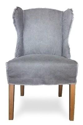 Bachio Ohrensessel - Vintage Cotton Charcoal