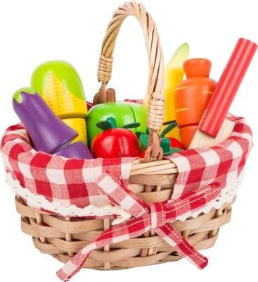 Small Foot Picknickkorb mit Essen aus Holz, 10-teilig
