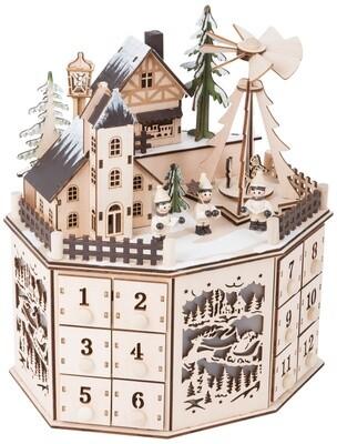 Small Foot Weihnachtskalender mit Pyramide aus Holz 25 cm