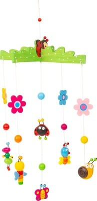 Small Foot Mobile Frühlings-Traum aus Holz, 54 cm, Multicolor