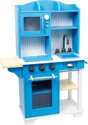 Small Foot Kinderküche aus Holz  blau 30 x 74 x 103 cm