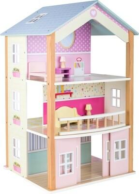 Small Foot Holzpuppenhaus 3 Etagen 37 x 40 x 67 cm
