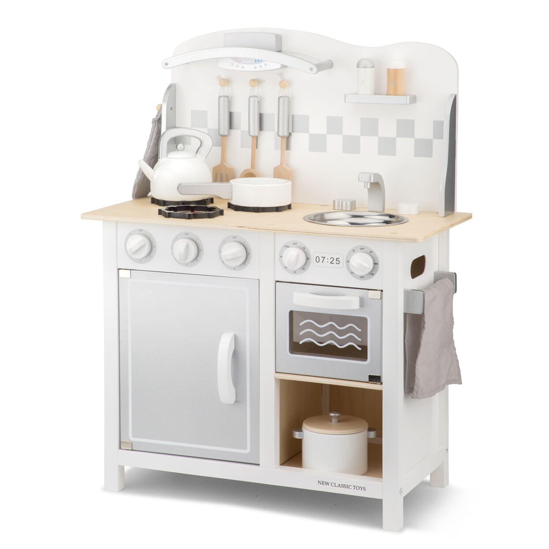 New Classic Toys Kinderküche Bon Appetit, 78 x 60 cm Holz weiß 8-teilig