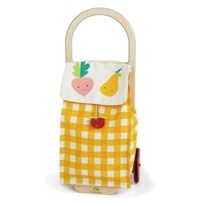 Tender Toys Einkaufswagen gelb/weiss Junior 29 x 24 x 63 cm