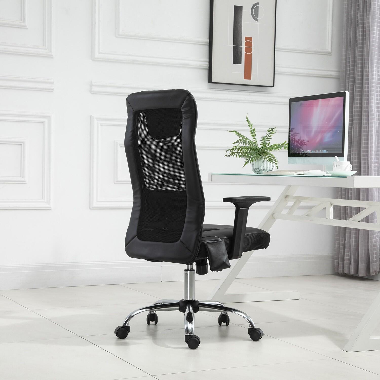 Vinsetto® Massagesessel Bürostuhl Drehstuhl mit Massagefunktion höhenverstellbar PU