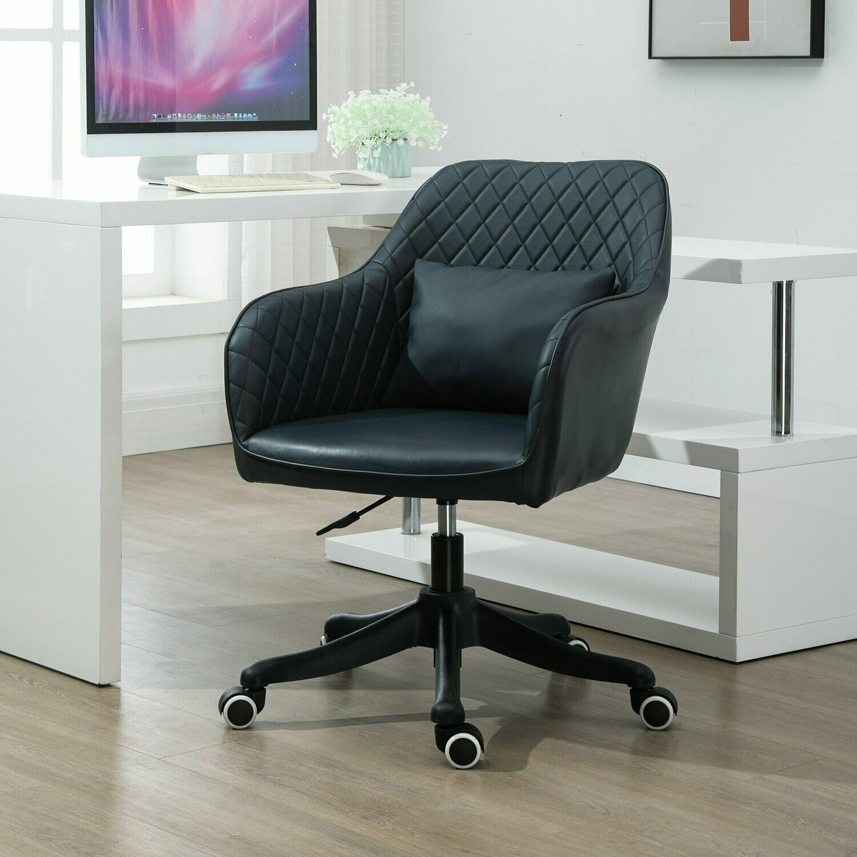 Vinsetto® Massage Bürostuhl Drehstuhl Arbeitstuhl mit Vibrationsfunktion PU Dunkelgrau
