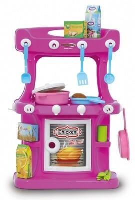 Jamara Kinderküche Little Cook57 cm rosa,  42-teilig