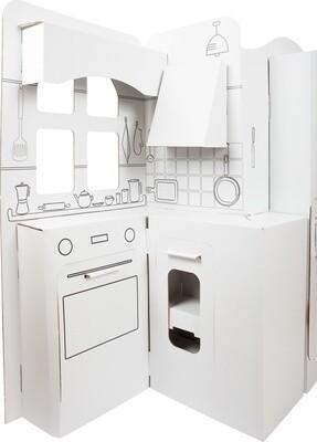 Small Foot Kinderküche 117 x 57 cm aus Karton, weiß