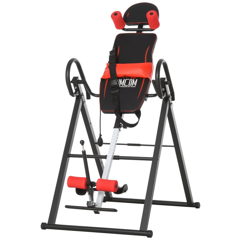 HOMCOM® Inversionsbank klappbarer Schwerkrafttrainer mit 3 Inversionswinkel Stahl PVC