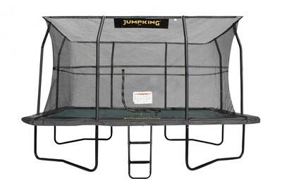 Jumpking Trampolin Deluxe komplett rechteckig 2,45 x 3,65 m  schwarz