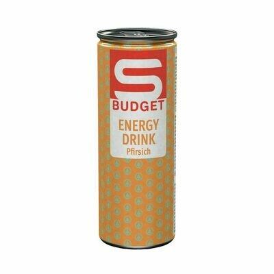 S-BUDGET Energy Drink Pfirsich 24 x 250ml = 6 Liter
