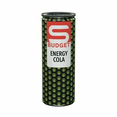 S-BUDGET Energy Drink Cola 24 x 250ml = 6 Liter