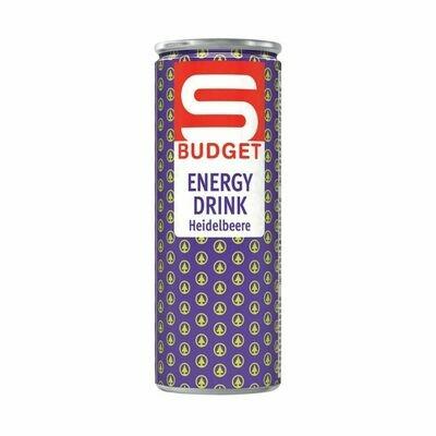 S-BUDGET Energy Drink Heidelbeere 24 x 250ml = 6 Liter