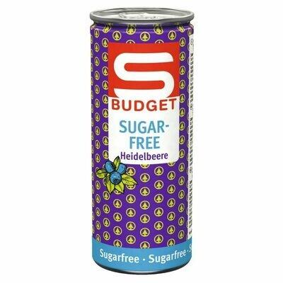 S-BUDGET Energy Drink sugarfree sugarfree Heidelbeere 24 x 250ml = 6 Liter