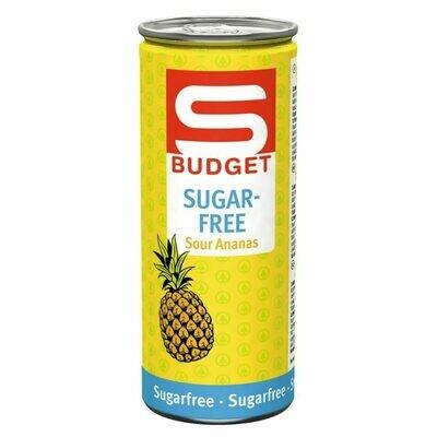 S-BUDGET Energy Drink sugarfree Sour Ananas 24 x 250ml = 6 Liter