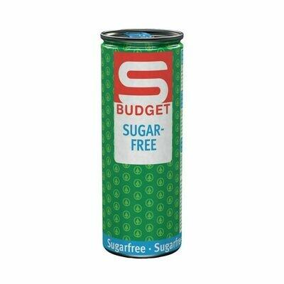 S-BUDGET Energy Drink Sugarfree 24 x 250ml = 6 Liter