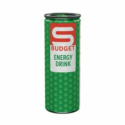 S-BUDGET Energy Drink Classic 24 x 250ml = 6 Liter