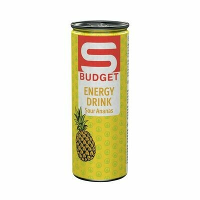 S-BUDGET Energy Drink Sour Ananas 24 x 250ml = 6 Liter