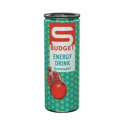 S-BUDGET Energy Drink Granatapfel 24 x 250ml = 6 Liter