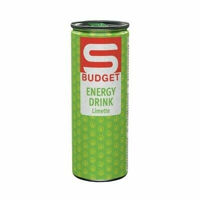S-BUDGET Energy Drink Limette 24 x 250ml = 6 Liter