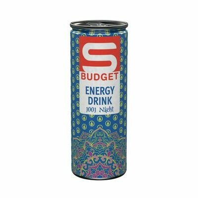 S-BUDGET Energy 1001 Nacht Zwetschgen-Zimtgeschmack 24 x 250ml = 6 Liter