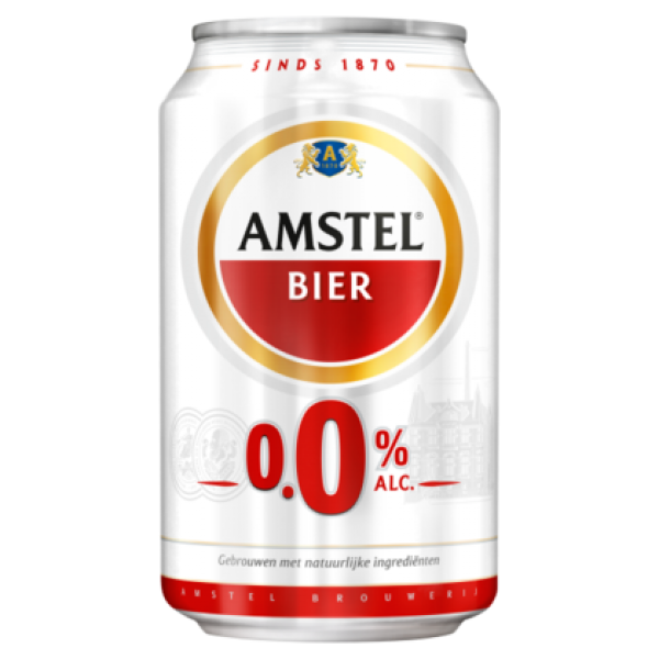 Grosspackung Amstel Bier Alkoholfrei 0%  24 x 0,33 l = 7,92 Liter